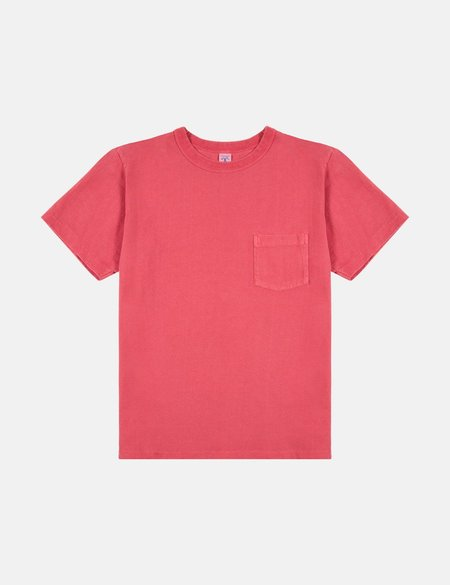Velva Sheen x Article Pigment Dyed Pocket T Shirt - Red