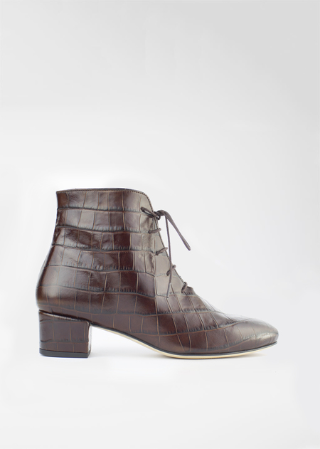 Auprès Félicie boot - croco brown