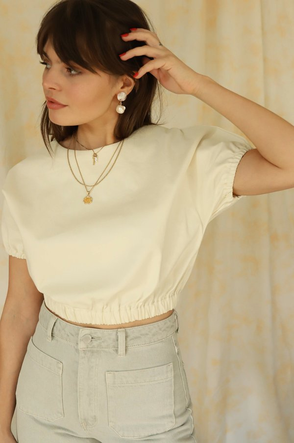 Line & Dot Everson Crop Top - Off White