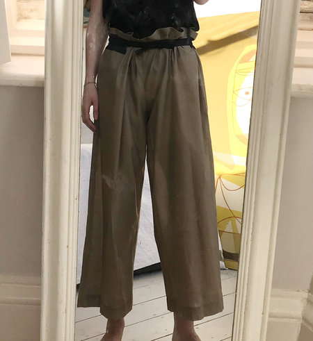 AVN Italy Wide Leg Trousers - Earth