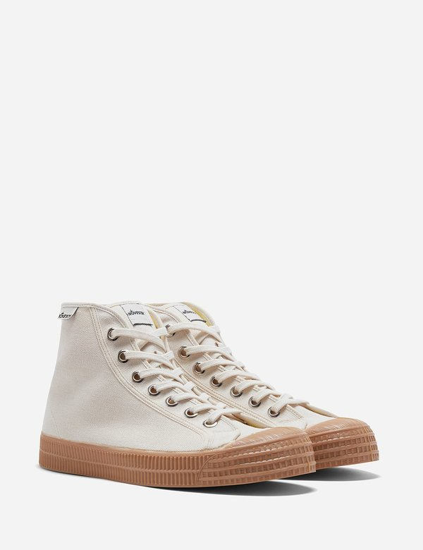 Novesta Star Canvas Dribble Hi Sneakers - Beige/Gum