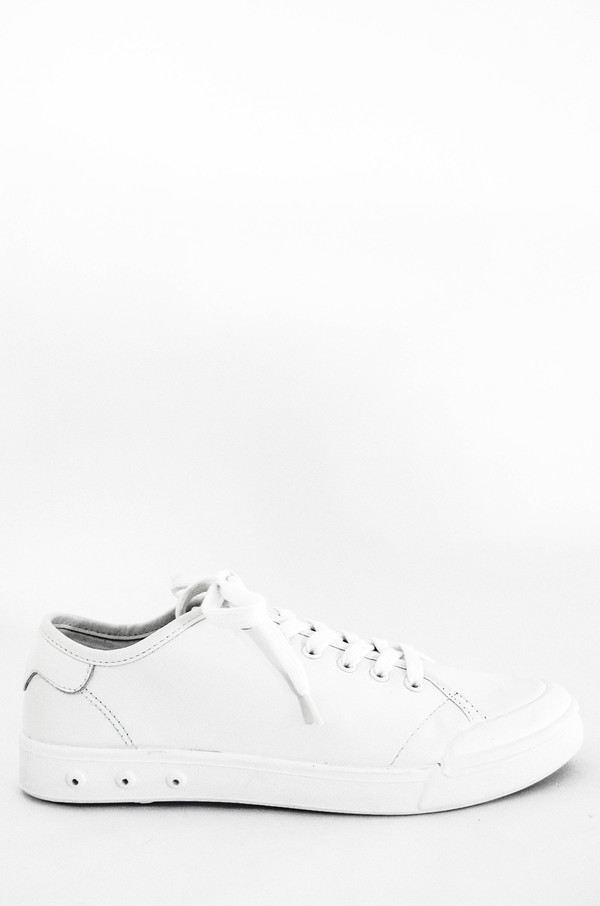 71fcb1950a451 Men s Rag and Bone White Leather Standard Issue Lace Up Sneaker ...