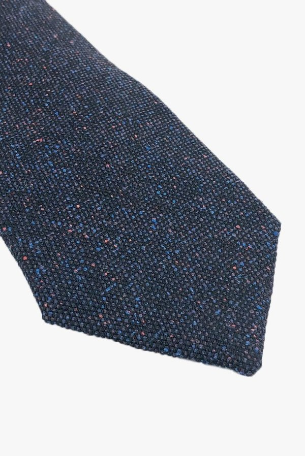 POCKET SQUARE CLOTHING Cooper Wool Tie - Navy/Speckle