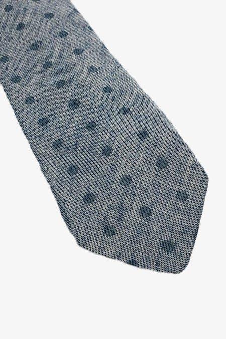 POCKET SQUARE CLOTHING Espinoza Woven Tie - Light Blue/Dot