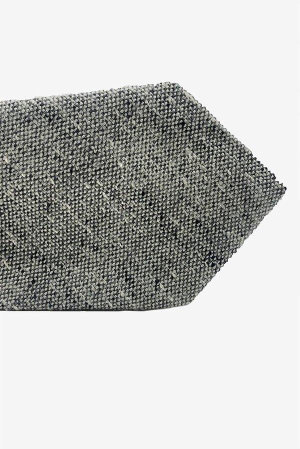 POCKET SQUARE CLOTHING Huerta Wool Tie - Grey