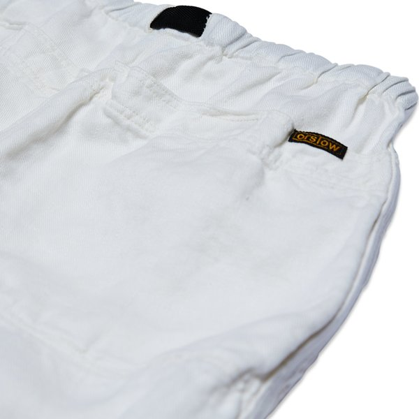 Orslow CLIMBING SHORTS LINEN - WHITE