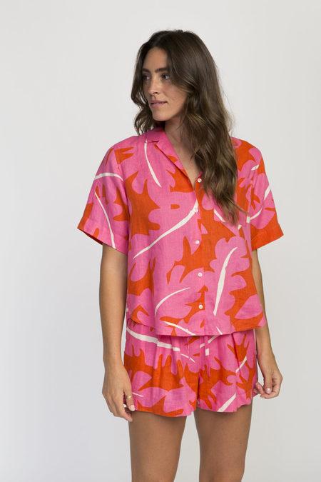 STYLE CAMP Palm Camp Shirt - Pink