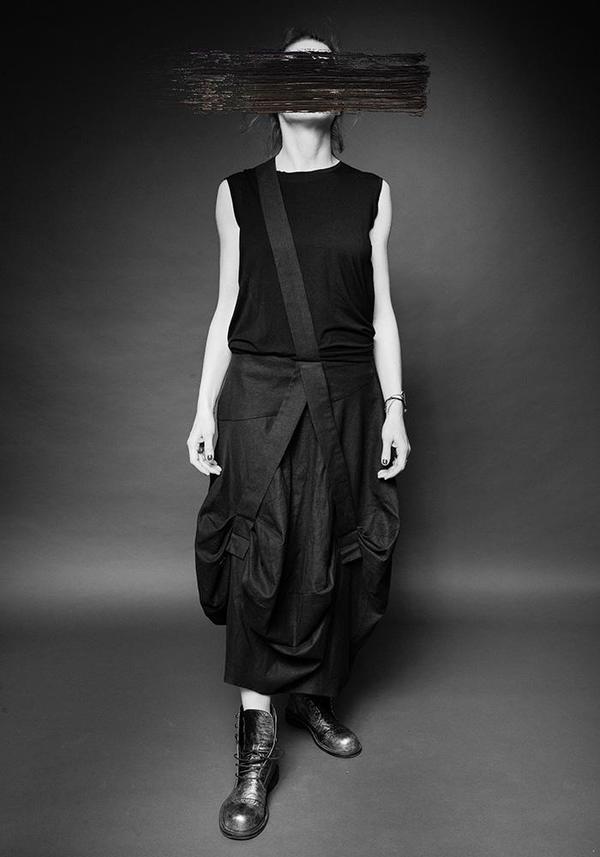 MAKS Lattice Skirt - Black