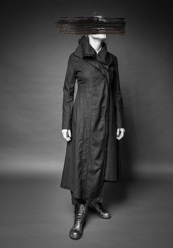 MAKS Three Collars Coat - Black