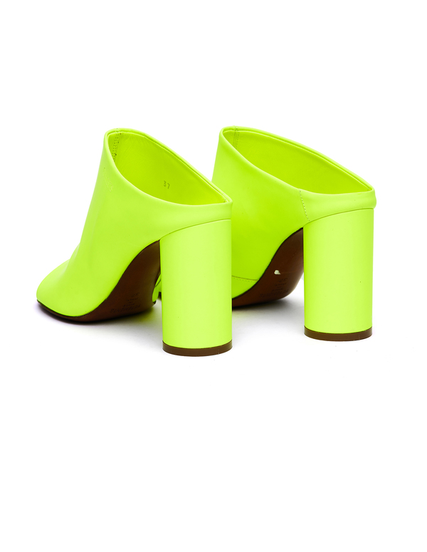 Vetements Neon Yellow Leather Shoes - Neon Yellow