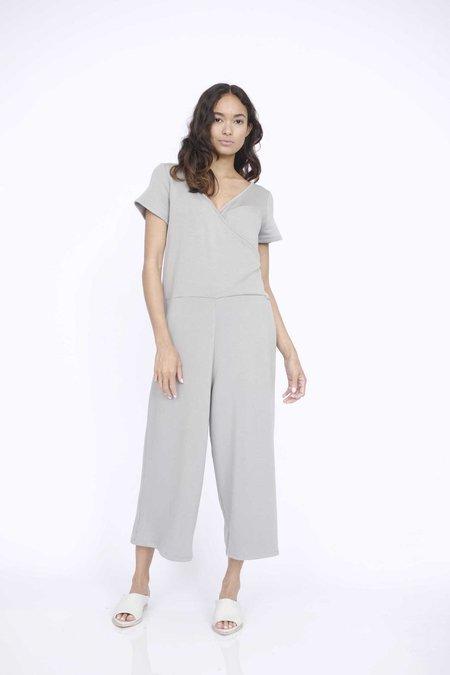 Corinne Collection Theo wrap onesie - Stone Grey