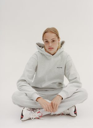 Sporty & Rich Classic Logo Sweatpant - gray/navy sticht