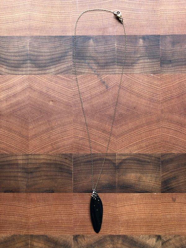 julie cohn salvia necklace - black