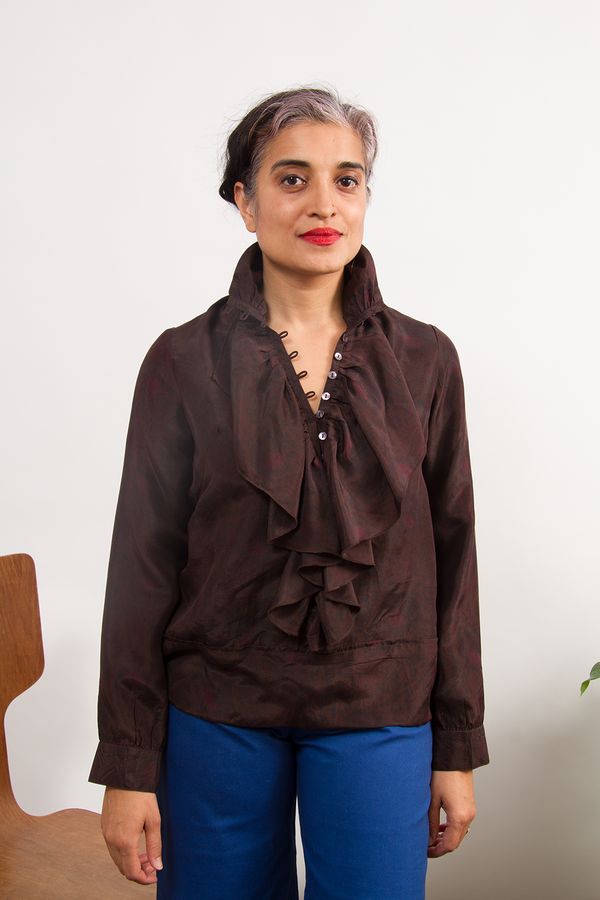 Bhoomki Alana Blouse in Silk Habotai