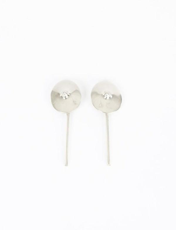 Quarry Votive Dangle Earrings - White Bronze