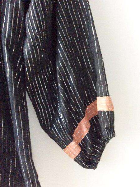 [pre-loved] Al-Harbi Metallic Striped Top - black