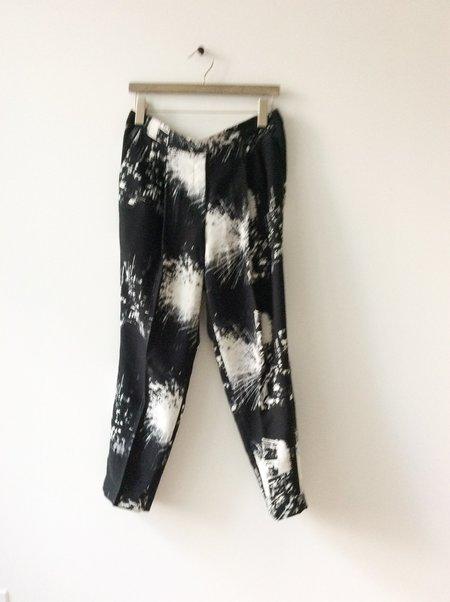 [pre-loved] BABTON Printed Pant - black/white