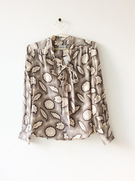 Pre-loved Rachel Comey Printed Blouse - Beige/Brown