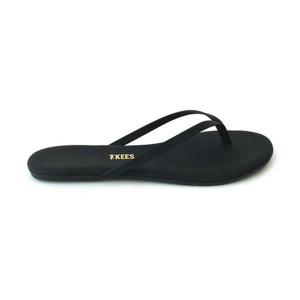 TKEES Lily Suede Flip Flop - Black
