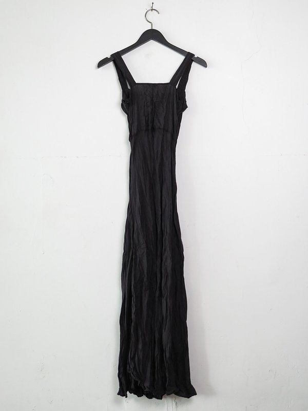 hazel brown silk sundress - black