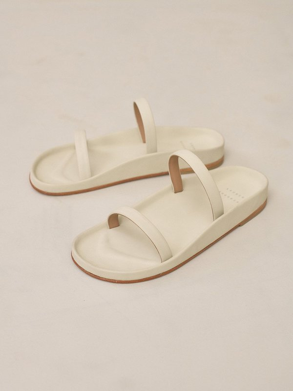 lauren manoogian line sandal - bone