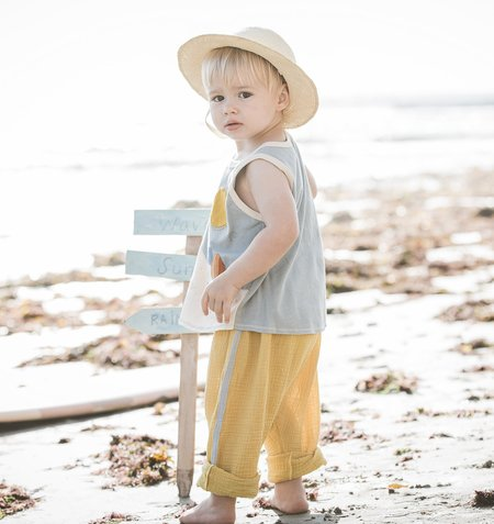 KIDS Wild Wawa Sideline Pant - Honey/Blue Stripe