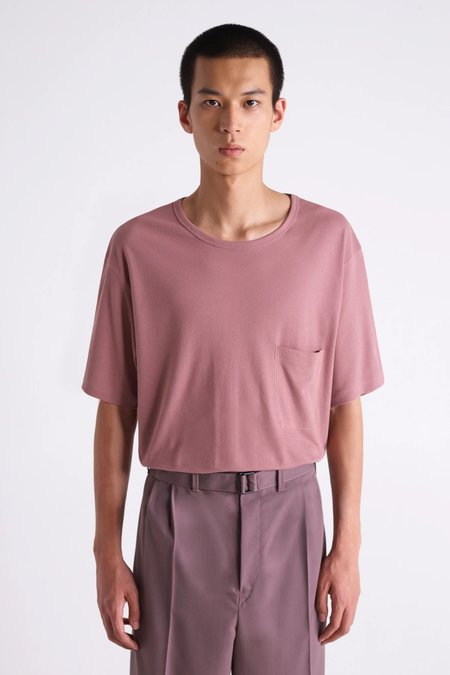 Lemaire Crepe t-shirt - smoked pink