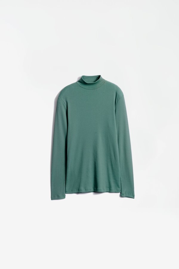 Lemaire Rib mock neck top - sauge