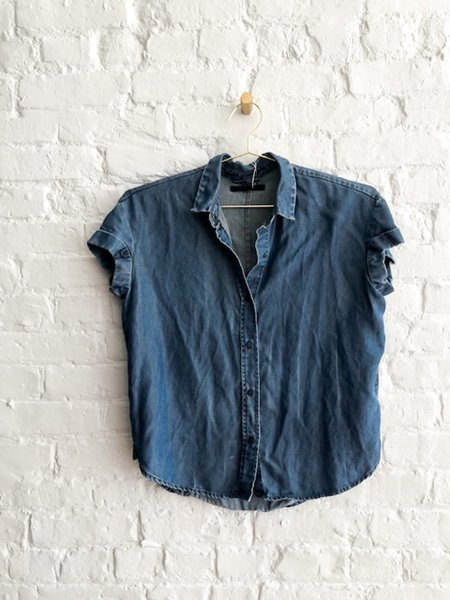 [pre-loved] All Saints Chambray Shirt - blue