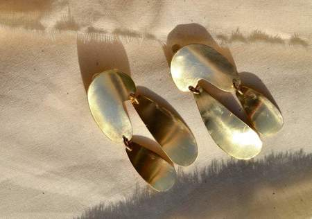 Fade Into The Abstract Float Earrings - Sterling Silver