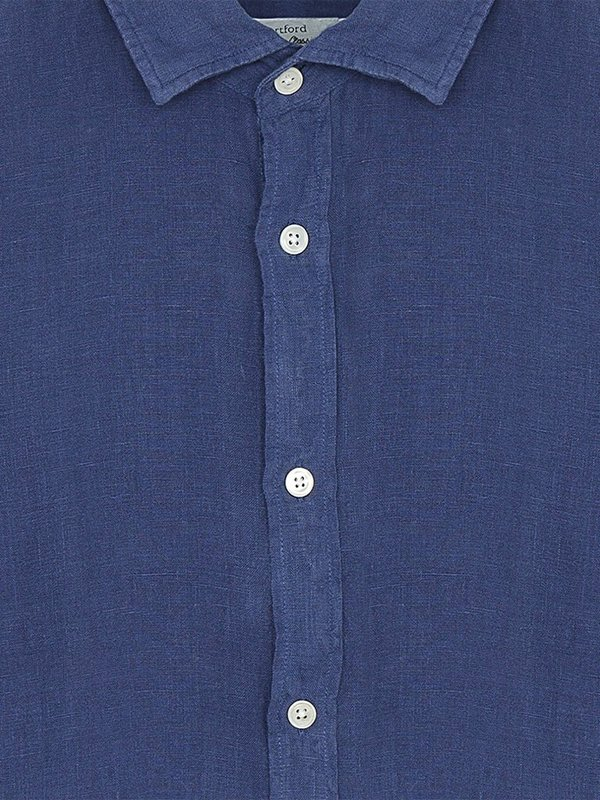 Hartford Sammy Linen Shirt - Denim