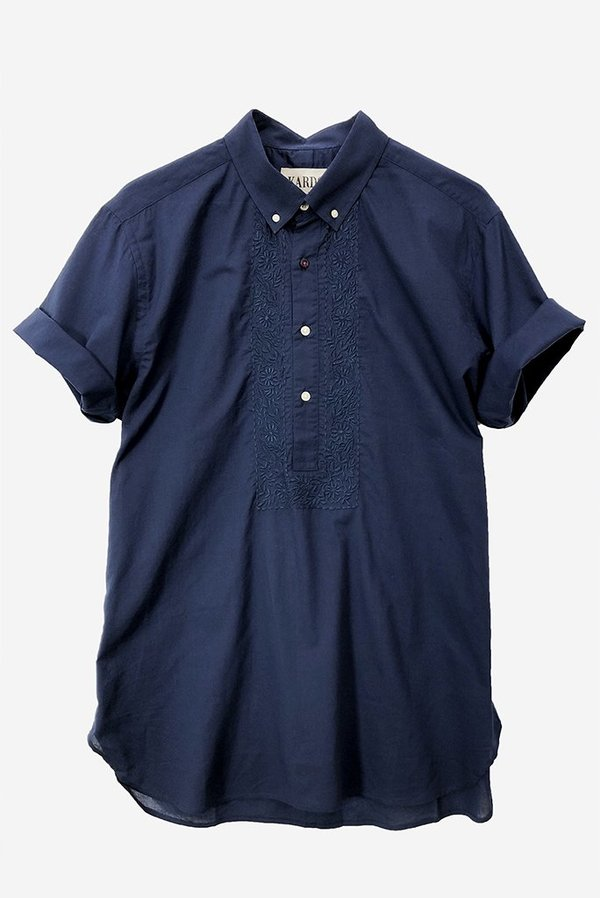 Kardo Henry Embroidered Shirt - Navy