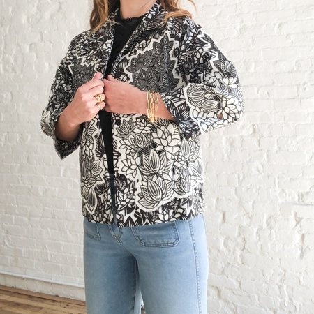 [pre-loved] Vivienne Tam Floral Jacket - black/white