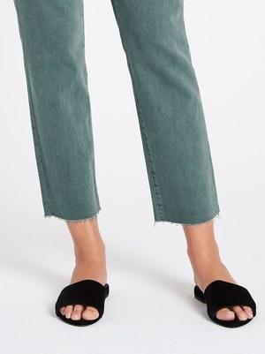 J Brand Adele Mid Rise Straight Jean - Green