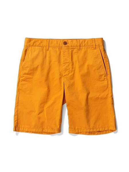 Norse Projects Aros Twill Shorts - Cadmium Orange