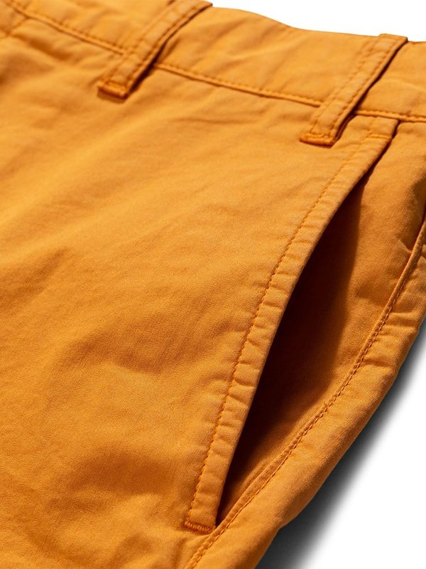 Norse Projects Aros Twill Shorts - Cadmium Orange