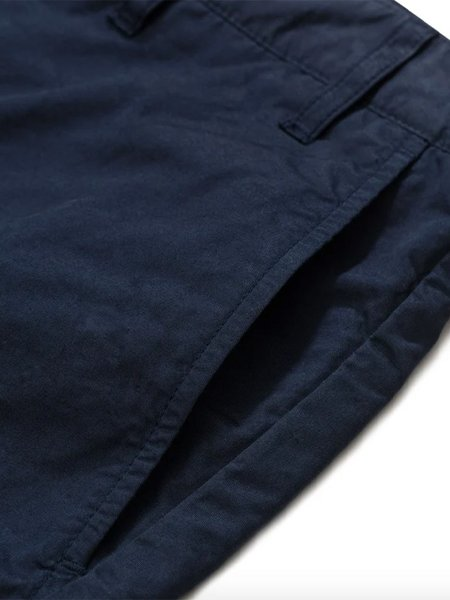 Norse Projects Aros Twill Shorts - Dark Navy