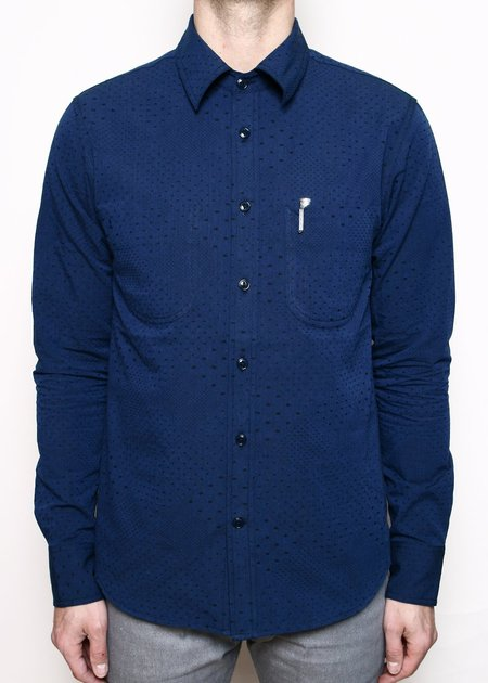 Rogue Territory Jumper Shirt - Navy Diamond Dot