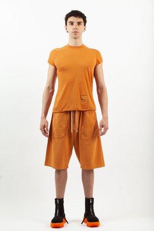 Rick Owens Level Tee - Tangerine