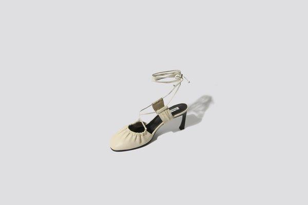 Reike Nen Shirring Sandal - Ivory