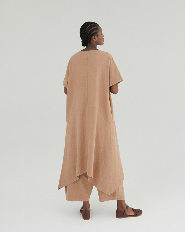Monica Cordera Clay Pot Asymmetric Ramie Dress