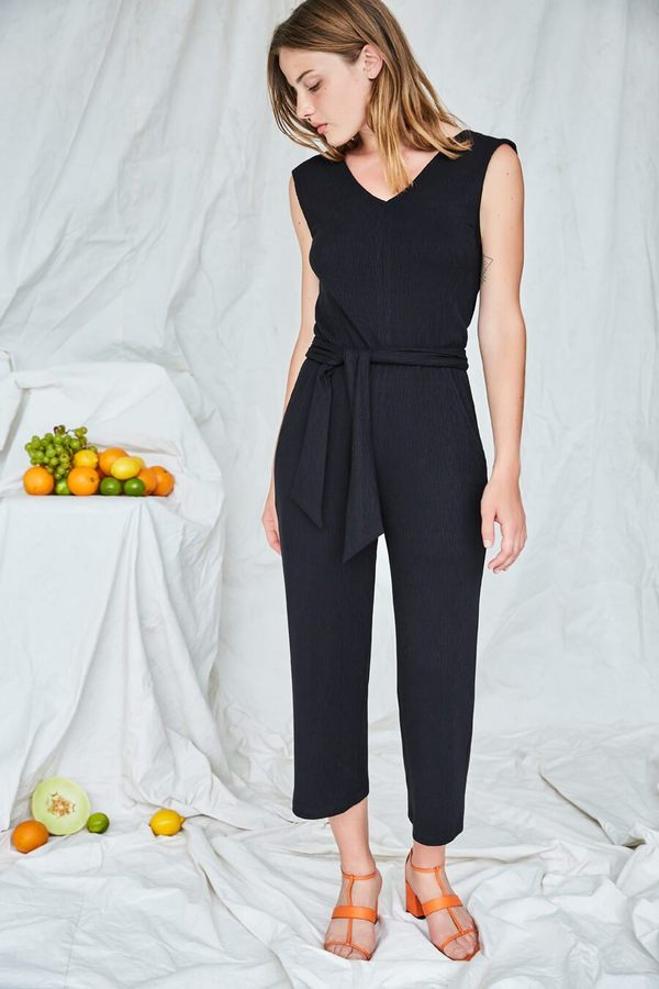 EVE GRAVEL ON THE QUAYS JUMPSUIT - BLACK