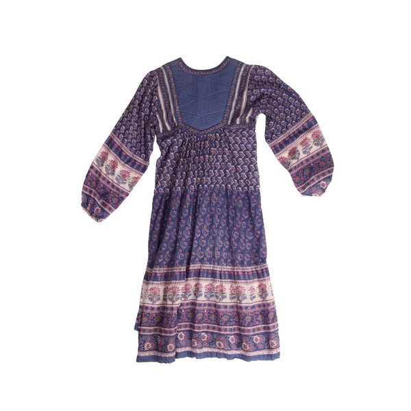 Vintage Violet Cotton Dress - Violet