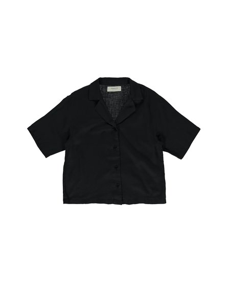 Thinking Mu Lomami Short Sleeve Shirt - Black