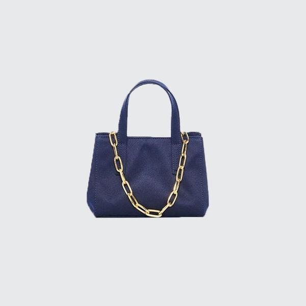 Tibi Le Client Mini With Chain - Navy