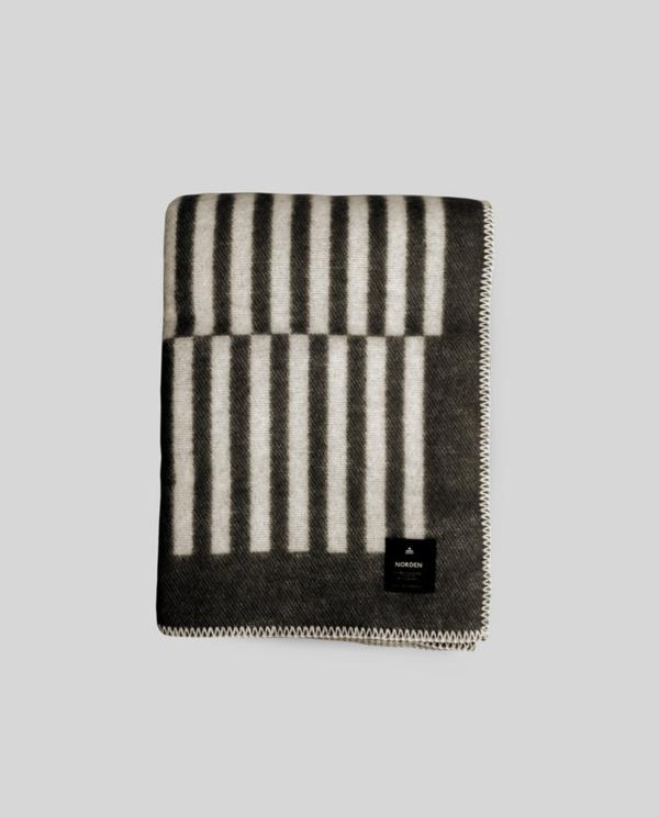 Norden Norrebro Wool Throw Blanket - Black