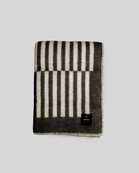Norden Norrebro Wool Throw Blanket - Black