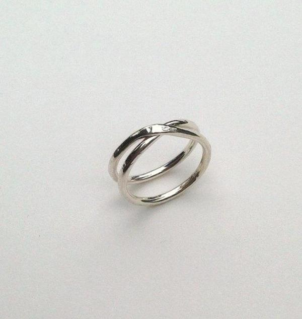 Knuckle Kiss DS Wrap Ring - Sterling Silver