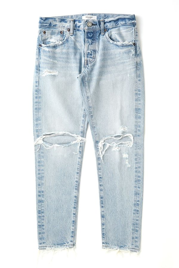 MOUSSY Yardley Tapered Jean - Light Blue