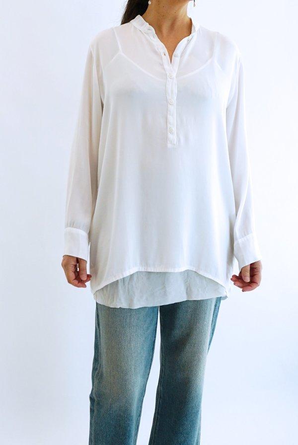 PRIVATE 0204 Silk Blouse 102 - White